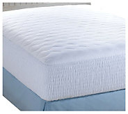 Croscill 500TC Pima Cotton Dobby Check Cali King Mattress Pad - H142824