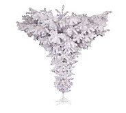 7-1/2 Crystal White Upside Down Tree by Vickeran - H143024