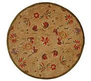 Anatolia 8 Round Beige Handtufted Oriental Wool Rug - H183624