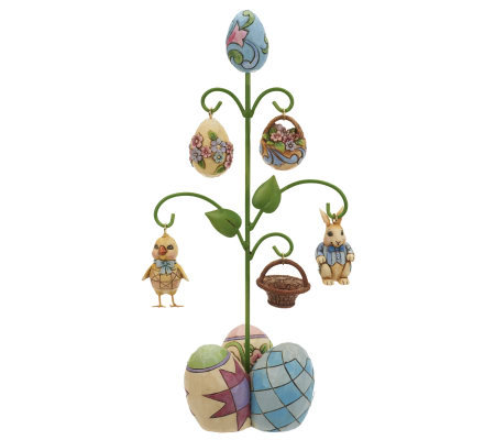 Jim Shore Heartwood Creek Easter Tree with Ornaments Figurine