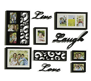Melannco 10-piece Live,Laugh,Love Word & Frame Wall Decor Set — QVC.