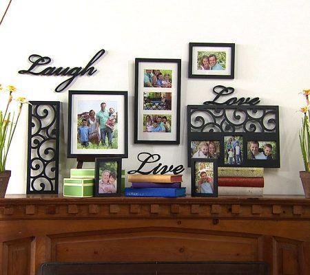 melannco 10 piece livelaughlove word frame wall decor set page 1 qvccom