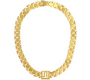 Stella Valle Goldtone or Silvertone Geometric Chain by Lori Greiner - H204224