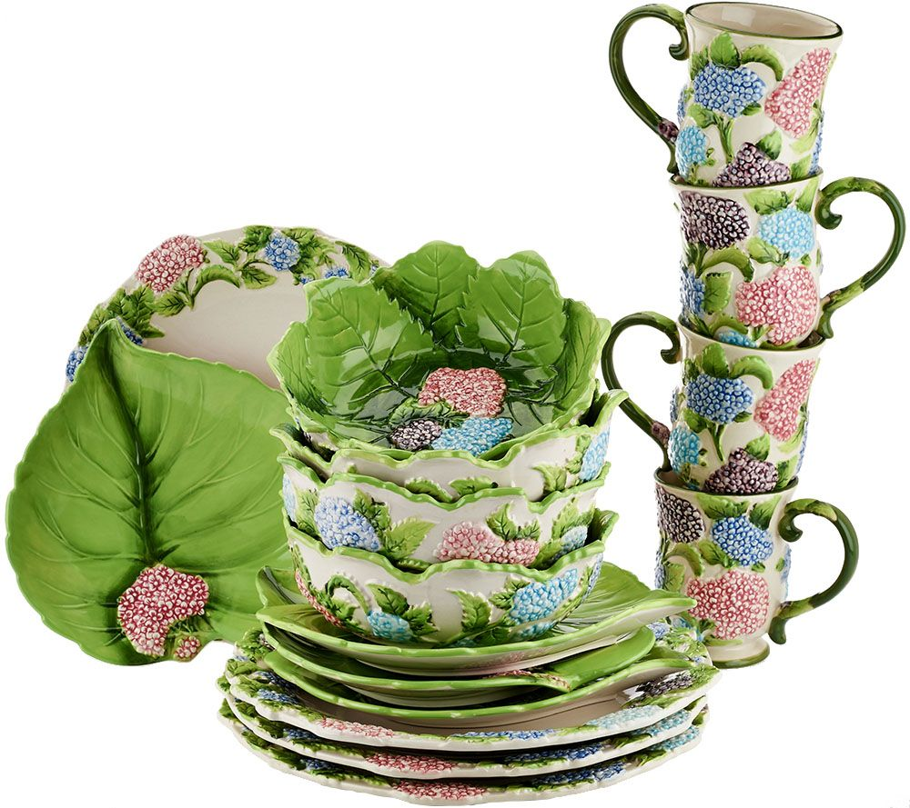 Temp-tations 16-piece Figural Floral Dinnerware Service for 4 ...