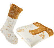 "Temp-tations 50"" x 70"" Throw & Stocking Set by Berkshire"