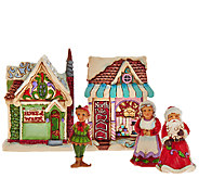 Jim Shore Heartwood Creek Set of 5 Mini Christmas Village Houses - H206524
