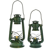 ED On Air Set of 2 Metal Camp Lanterns w/ LED by Ellen DeGeneres - H207124