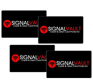 SignalVault Set of 4 Debit & Credit Card Protectors - H207924