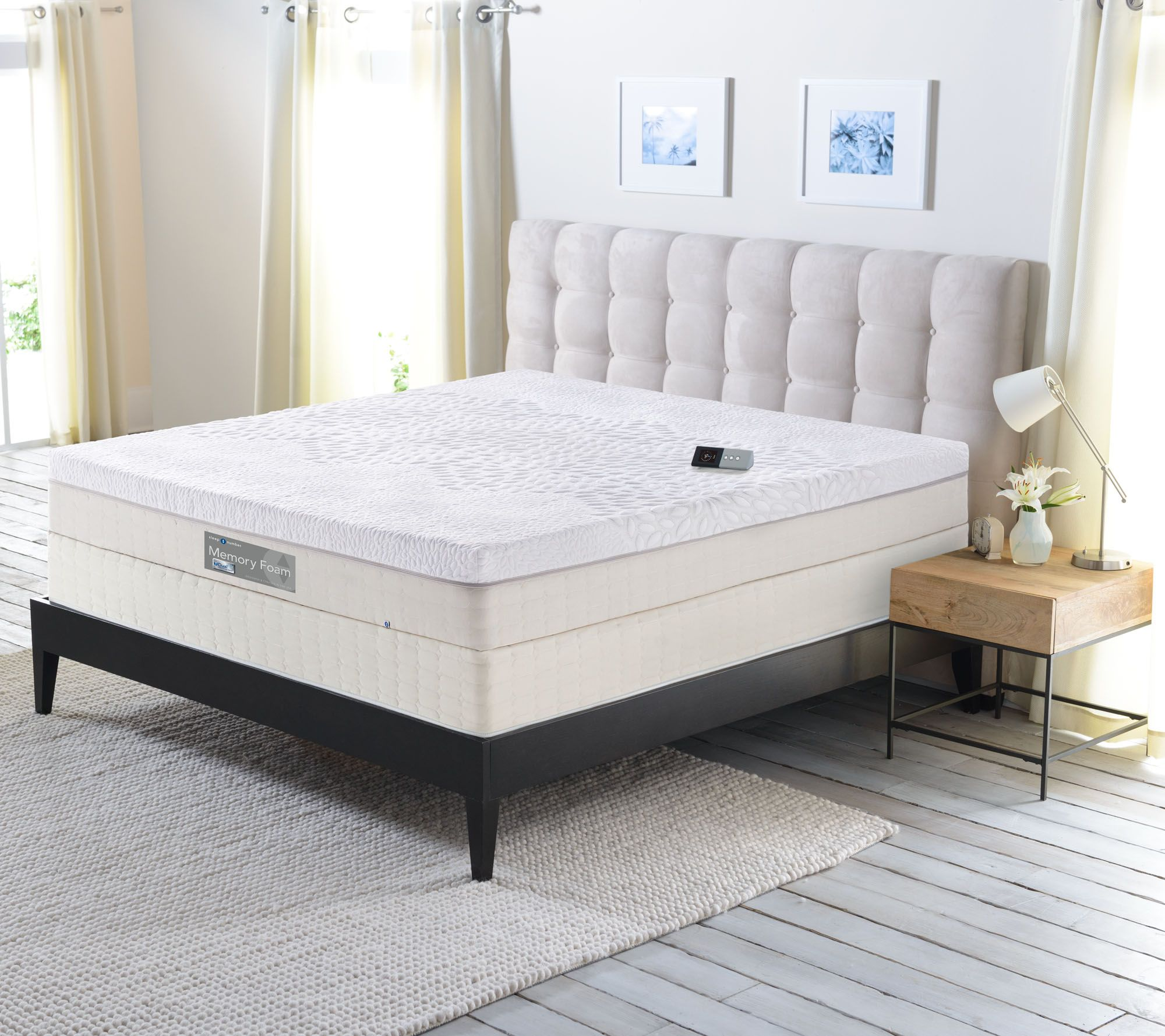 sleep number memory foam cal king mattress with modular