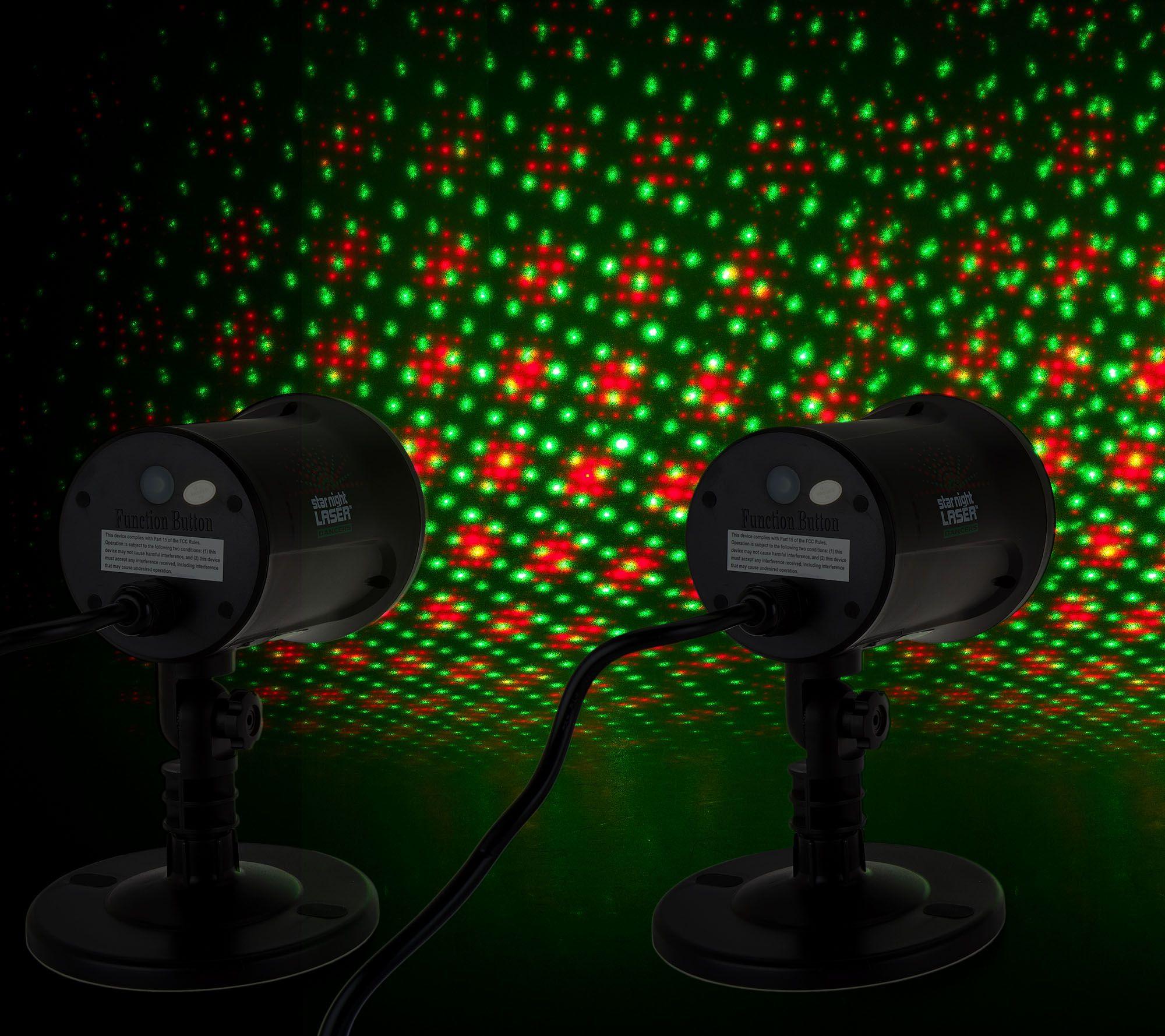 Garden Lights Qvc : Magic set of outdoor indoor dancing dual laser lights qvc