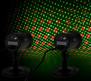 StarNight Magic Set of 2 Outdoor/Indoor Dancing Dual Laser Lights - H210524