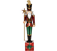 Kringle Express 5 Oversized Indoor/Outdoor Illuminated Nutcracker - H211524