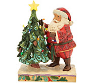 Jim Shore Heartwood Creek Santa Decorating_Tree Figurine - H212524