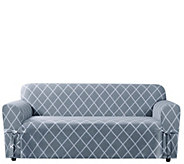 Sure Fit Lattice Sofa Slipcover - H288824