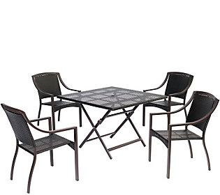 Hanover Outdoor Orleans 5 Piece Dining Set