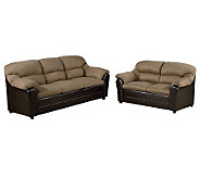 Connell Saddle Microfiber Sofa & Love Seat by Acme Furniture - H356124