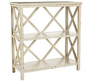 Safavieh Liam Open Bookcase - Distressed IvoryFinish - H362724