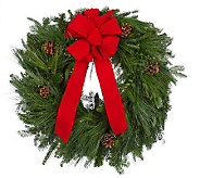 Del Week 12/5 Carolina Fraser Fresh Mixed Greens Wreath - H364224
