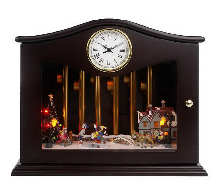Mr. Christmas Animated Musical Chime Clock with Lights
