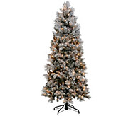 Kringle Express Flocked 6.5 Winter Slim Christmas Tree - H205625