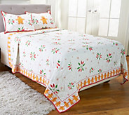 Temp-tations Gingerbread Man Twin Quilt Set by Berkshire - H206225