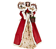 32 Holiday Angel with Fabric Gown by Valerie - H206825