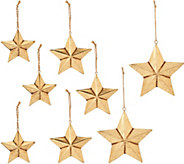ED On Air Set of 9 Metal Star Ornaments by Ellen DeGeneres - H207025