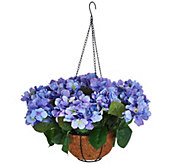 Bethlehem Lights Battery Operated Hydrangea Hanging Basket - H207925