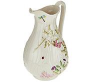 As Is Belleek Floral Springtime Pitcher - H209525