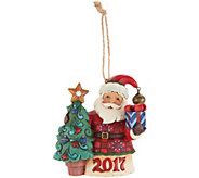 Jim Shore Heartwood Creek Exclusive Dated 2017 Santa Ornament - H211925