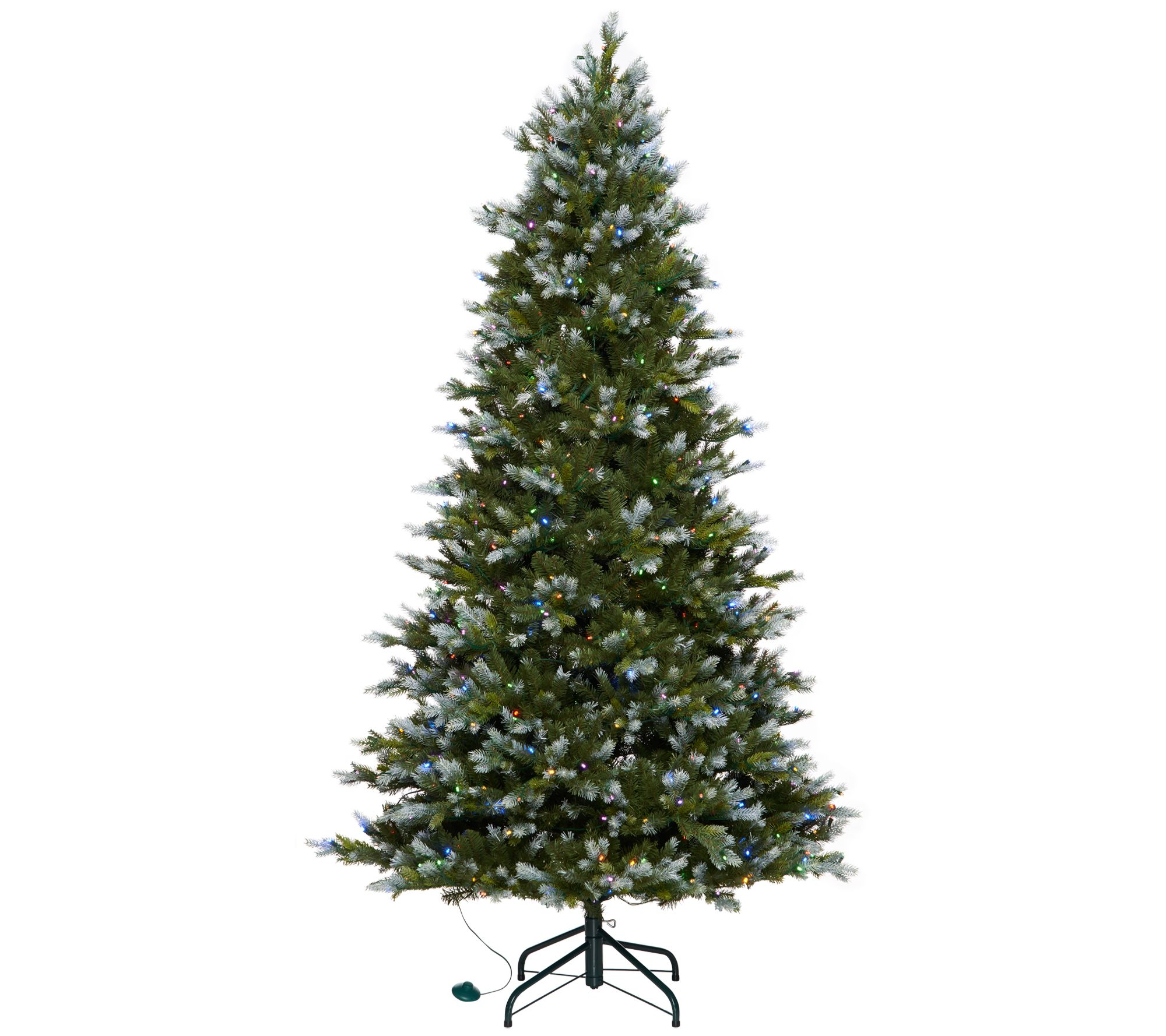 Scott living for the home qvc as is scott living 65snow dusted color flip led fir w arubaitofo Gallery