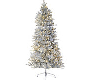 As Is Santas Best Sparkling LED Convertible 5-7.5 Tree w/8 Functions - H214425