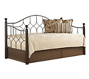 Fashion Bed Group Bianca Hammered Pewter/Espresso Daybed - H281125