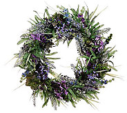 20 Spring Lavender Wreath by Valerie - H283025