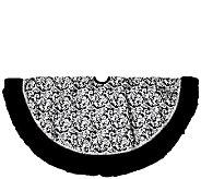 48 Black Velvet & Metallic Print Tree Skirt by Northlight - H287725