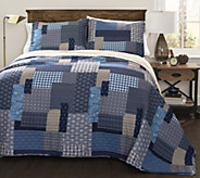 Ethan 3-Piece Full/Queen Quilt Set by Lush Decor - H288025
