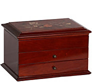 Mele & Co. Brayden Wooden Jewelry Box in WalnutFinish - H288625