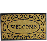 Northlight Welcome Rubber and Coir Door Mat - H293625