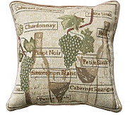 Fruit of the Vine 18 x 18 Tapestry DecorativePillow - H349325