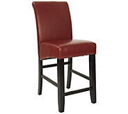 24 Parsons Bar Stool in Red Faux Leather by Office Star - H349725