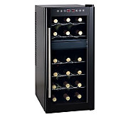 SPT 18-Bottle Wine Cooler Dual Zone with Heating - H366225