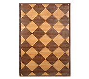 Linda Dano 2 x 3 Brown & Tan Bamboo Mat - H200026