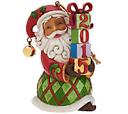 Jim Shore Heartwood Creek 2015 Dated Santa Ornament - H205726