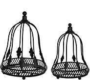 Set of 2 Metal Cloches with Mirror Inserts by Home Reflections - H207926
