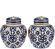 Set of 2 Illuminated Porcelain Ginger Jars by Valerie - H208626