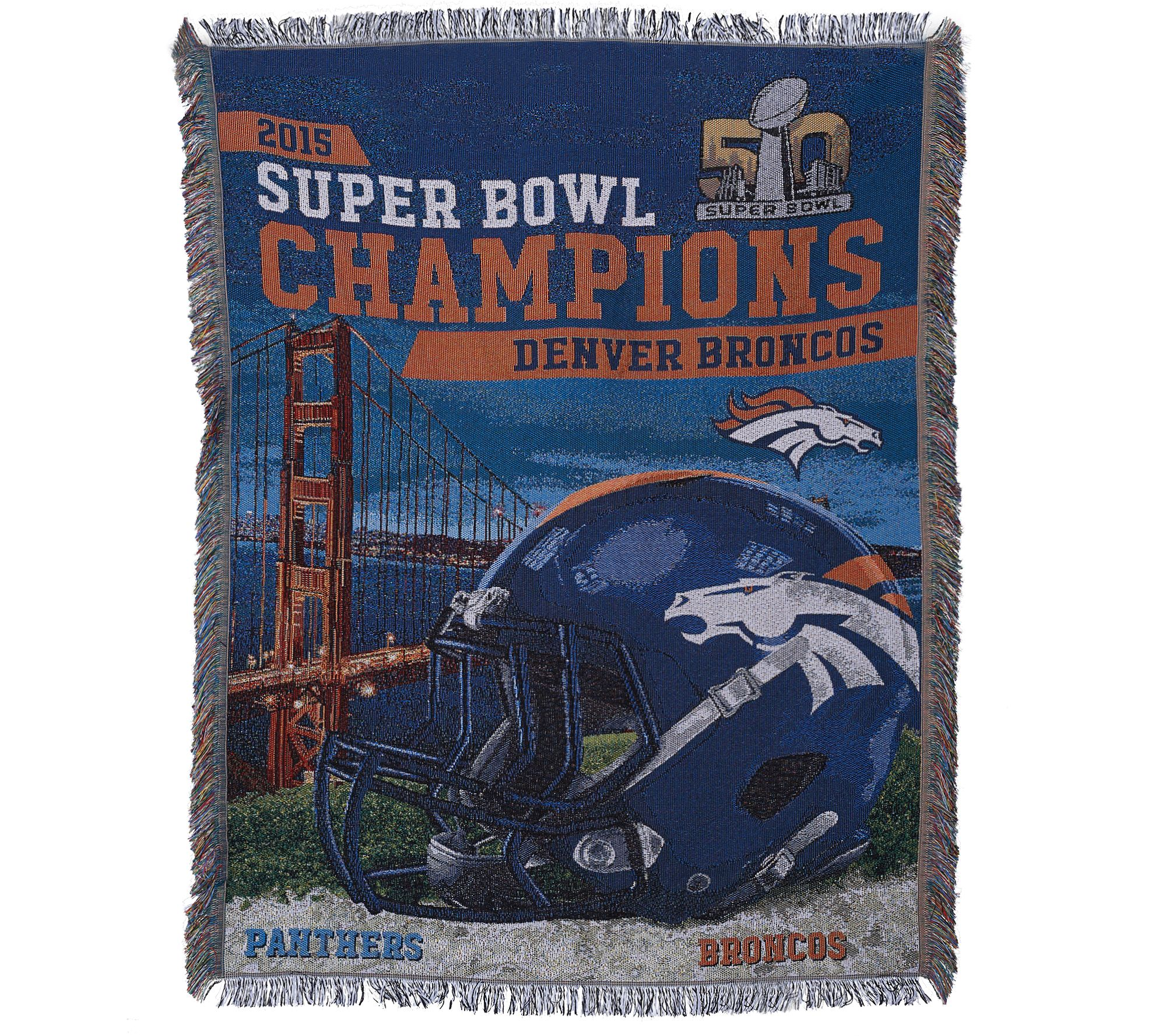 "Ship 2/26 Super Bowl 50 Champs Denver Broncos 48""x60""Tapestry"