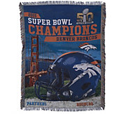 Ship 2/26 Super Bowl 50 Champs Denver Broncos 48x60Tapestry - H208826
