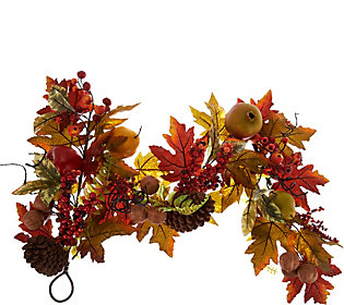 4' Fruit and Berry Garland with Pinecones by Valerie