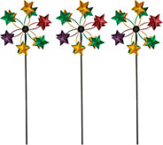 Plow & Hearth Set of 3 Metal Mini Holiday Wind Spinners - H211426