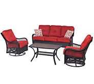 Hanover Outdoor Orleans 4-Piece All-Weather Patio Set - H288926